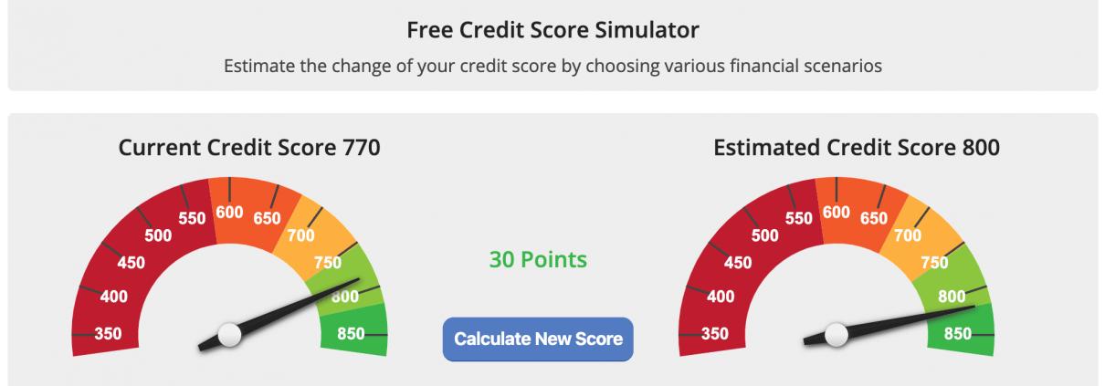 Free Credit Score Simulator